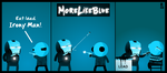 MoreLikeBlue: Irony Man by MrGobi