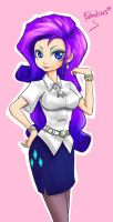 Humanized Rarity attempt by Ereb-Tauramandil