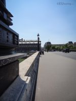 Balustrades and lamp posts of bridge by EUtouring