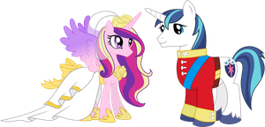 Princess Cadance and Shining Armour (2) by 90Sigma