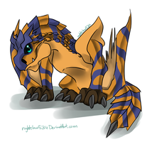 CHIBI TIGREX :3 by nightclaw534