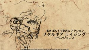 MGR - Simple Raiden Concept Art Wallpaper 1 by PokeTheCactus