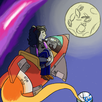 Lily-globus Terminal Space Flight To Moon Tribute by WarsadlePony