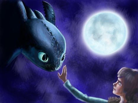 Toothless and Hiccup by ChristyTortland