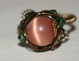 Rose and Thorns Wire Ring SZ P by FranyaBlue