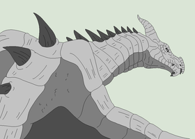 Traced Base - Skyrim Dragon by Mature-Bases