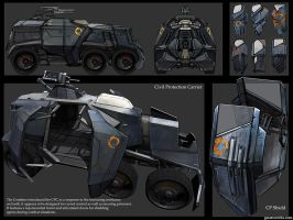 HL2 riot wagon + riot shield by gausswerks