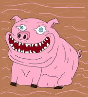Happy Pig by holdypause