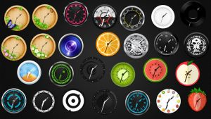 Cool Analog Clocks Collection for xwidget by Jimking
