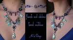 Fluorite/Abalone Tiered Necklace (sold) by ArtLoDesigns