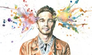 Mind Blown::James Franco by jamesmurlinartwork