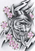 Evil Hannya mask by WillemXSM