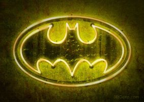 Batman Logo - Neon by 3ftDeep