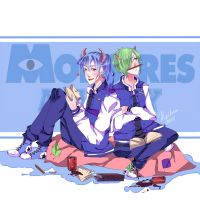 Monstres Academy Bob and Sulli by MilkyWay-Moe