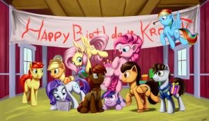 Happy Birthday, Kronos 5! by DarthAgnan
