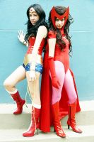 Wonder woman and Scarlet witch by lulysalle