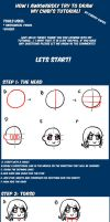 How I draw chibis tutorial by CuddlyCapes