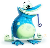 Daily Painting 613# Globox by Cryptid-Creations
