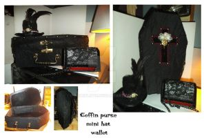 Coffin purse- Minihat and wallet by azurylipfe