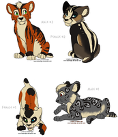 Saber Cub Adopts (CLOSED) by jeweledphoenix
