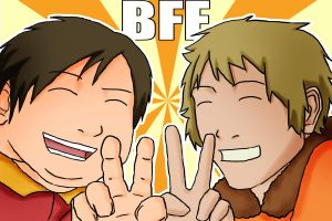 Cartman and Keeny ::BFF's:: by skybluespirit