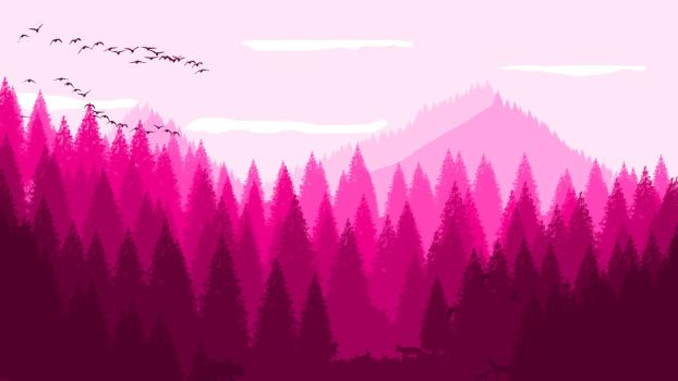 -- Pinkish forest -- by 0l-Fox-l0