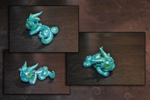 Minty Metal Dragon by KirstenBerryCrafts