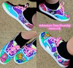 Adventure Time Shoes by LilithScream