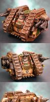Pre-Heresy Death Guard Mk1 Land Raider Barbarus by HomeOfCadaver
