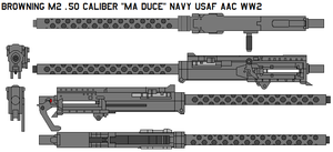 M2 .50 caliber Ma Duce navy by bagera3005