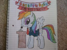 Request: Rainbow Dash for President!!! by TopazBeats