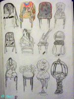 Musical Chairs - sketch by tlm13