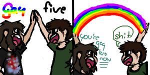 Gay-five by T3rrorT1ts