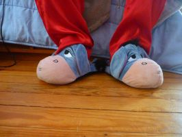 Eeyore scuff slippers by ExileLink