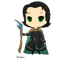 I DO WHAT I WANT THOR -chibi loki- by SkittleKitty123