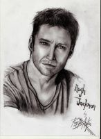 Hugh Jackman Drawing by AgentButt-Kick