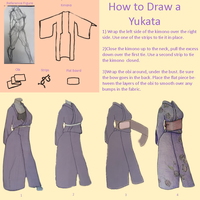 How to Draw a Yukata by TzarinaRegina