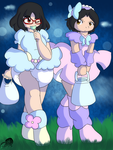 Stream Only: Twins out on Halloween by AD-SD-ChibiGirl