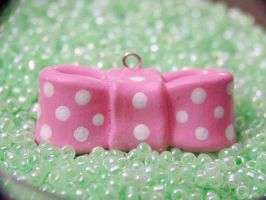 Pink Spotted Bow by Shelby-JoJewelry