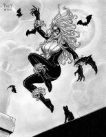 BLACK CAT 6 Original Pinup EBAY Art PATTY by Sean-Patty