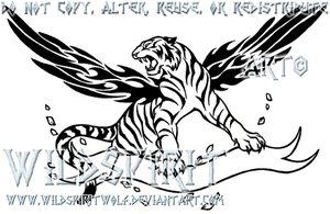 A Fire Inside - Tiger Tattoo by WildSpiritWolf