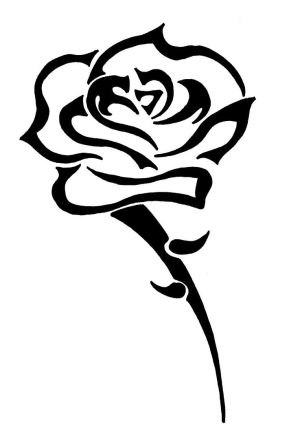 Flower Tribal Rose Tattoo Designs Picture 10