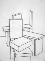 Chairs, drawn without ruler by MadStar