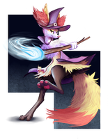 Braixen by FrozenQuills