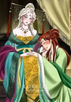 Elsanna in traditional Chinese costume 02 by LORELEI-LilyPrincess
