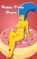 Happy V-Day Homer by PervyAngel