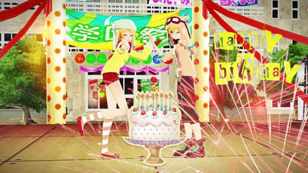 Happy Birthay Rin And Len by lulammd