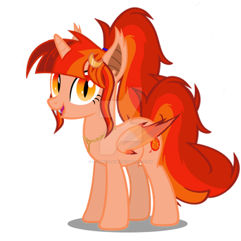 Starrybat with Pin by Starryflame