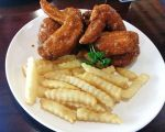 Hooters Wings and Fries by nosugarjustanger