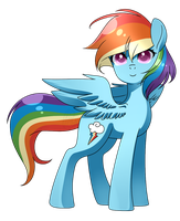 MLP - Rainbow Dashie by haydee